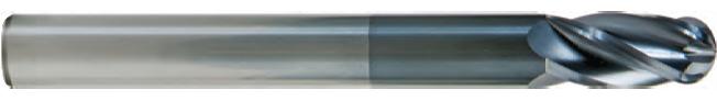 FK404S - Küresel Karbür Freze, Uzun