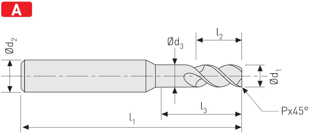 AC503 - Aluminyum için Karbür Freze, Uzun, Alucut