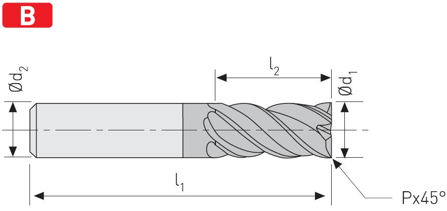 EC404 - Solid Carbide End Mills, ExtraCut