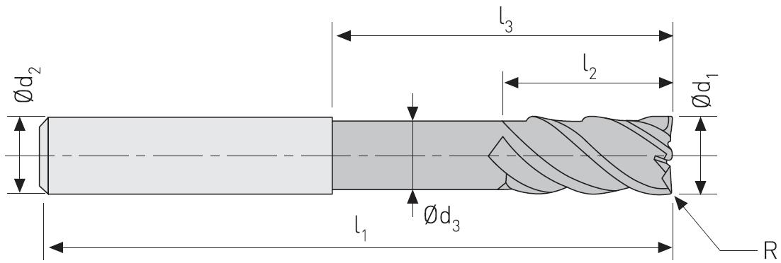 ECS604R - Karbür Freze, ExtraCut, Uzun Sap
