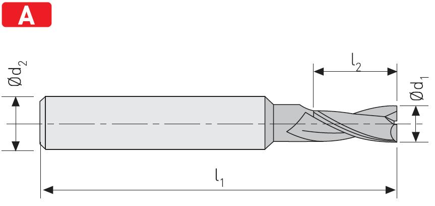 FD202 - Karbür Freze, Kýsa
