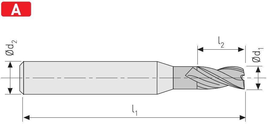 FD203 - Karbür Freze, Kýsa