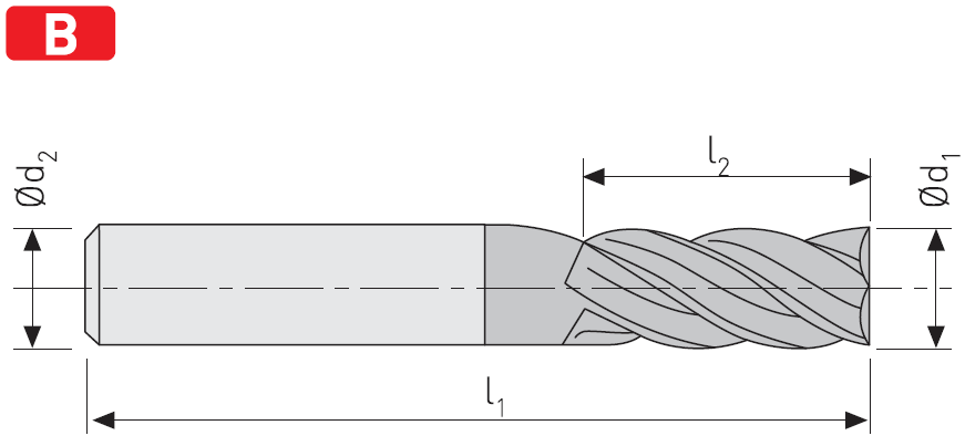 FD204 - Solid Carbide End Mills, Short