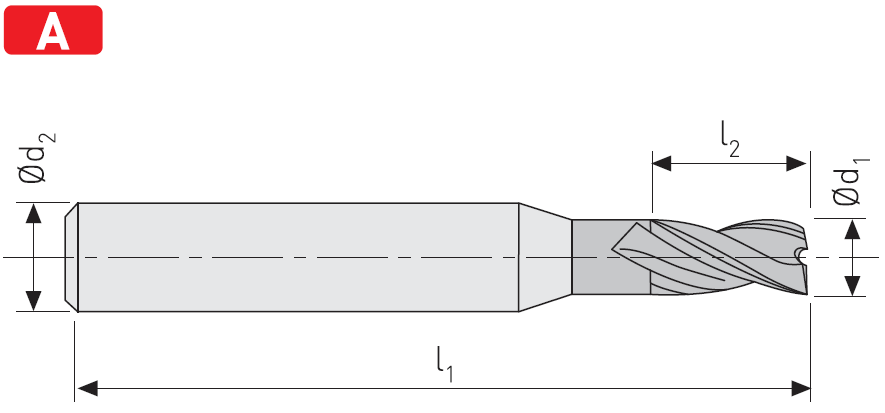 FD403 - Karbür Freze, Uzun