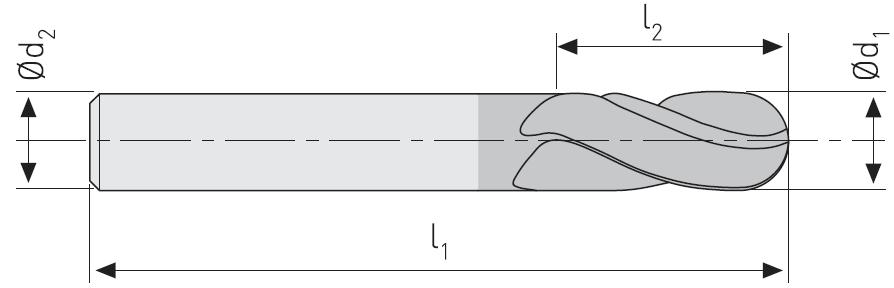 FK104U - Küresel Karbür Freze, Uzun